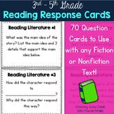 Reading Response Task Cards - 3rd -5th Grade (Reading Lite