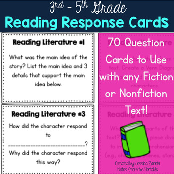 Reading Response Question Cards - 3rd Grade (Reading Liter