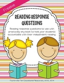 Reading Response Questions for Practically Any Book {freebie}
