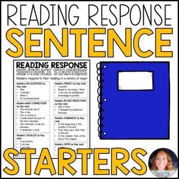Reading Response Sentence Starters