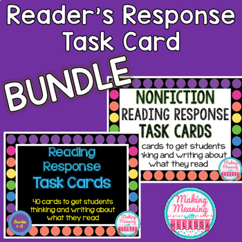 Reading Response Task Cards BUNDLE (FICTION and NONFICTION