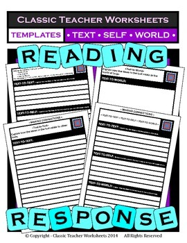 Reading Response - Text-to-Text, Text-to-Self, Text-to-Wor