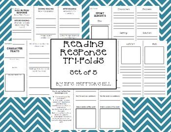 Reading Response Tri-Folds - Set of 5