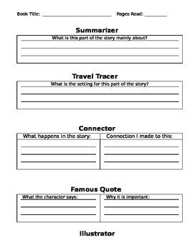 Reading Response Worksheet