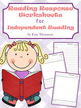 Reading Response Worksheets for Independent Reading