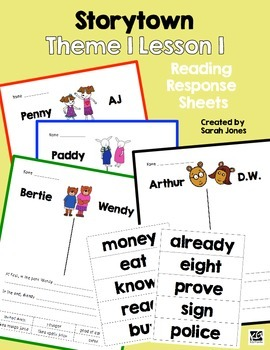 Reading Response for Storytown Theme 1 Lesson 1
