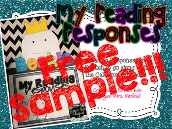 Reading Responses Beekle FREE SAMPLE  in SPAN & ENGL