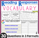 Reading Responses: Vocabulary