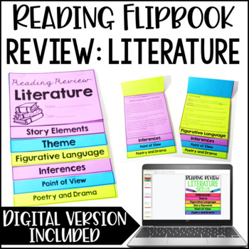 Reading Review Flipbook {Literature}