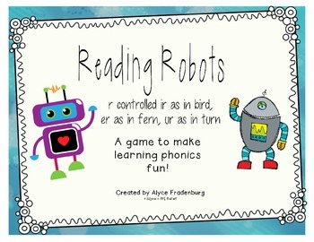 Reading Robots R controlled er ir and ur