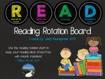 Reading Rotation Chart *Primary Colors*