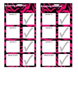 Reading Routine Schedule with Zebra Background
