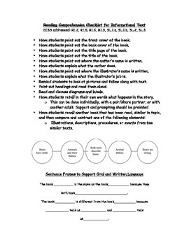 Reading Routine for Literature and Informational Text with