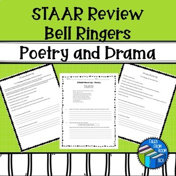Reading STAAR like Warm up - Drama and Poetry - Bundle
