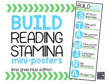 Reading STAMINA Mini-Posters (blue and lime green)