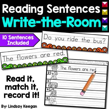 Reading Sentences - Write the Room