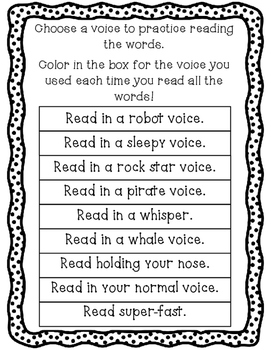Reading Silly Voices