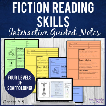Reading Skills Pixanotes™ (Differentiated picture notes) +