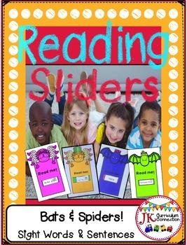 Sight Word & Sentence Reading Sliders - Bats & Spiders Theme