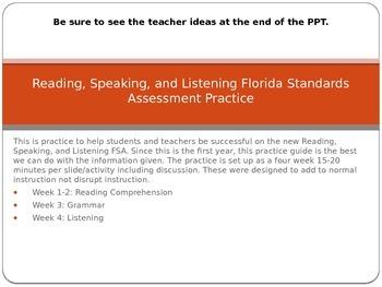 Reading, Speaking and Listening FSA Practice Presentation
