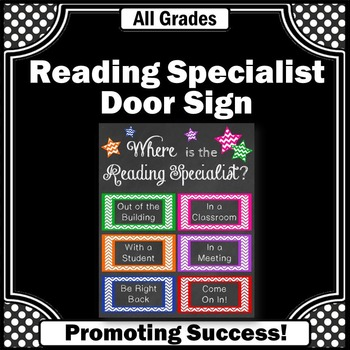 Where is the Reading Specialist Gift Idea Office Door Sign
