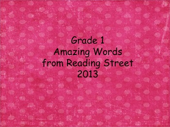 Gr 1 Amazing Words (word cards) Units 1-5 pink w/ green do