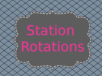 Reading Station/Rotation Automated Presentation Navy & Pin