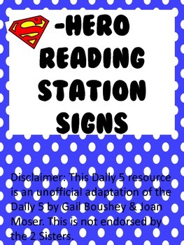 Reading Station Signs: Daily 5