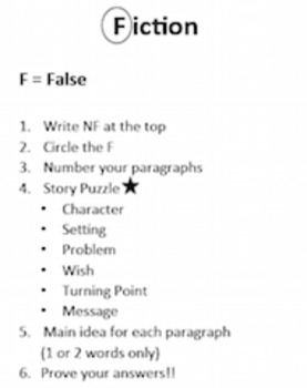 Reading Steps to Show Work