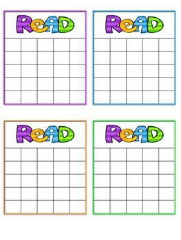 Reading Sticker Chart Freebie!