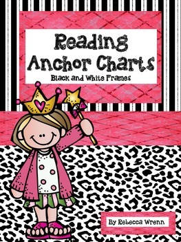 Reading Anchor Charts with Black and White Frames