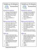 Reading Strategies Bookmark:  Reminders of What to do Whil