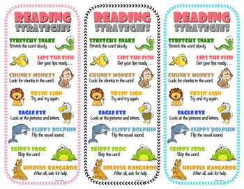 Reading Strategies - Bookmarks {Supports Common Core}
