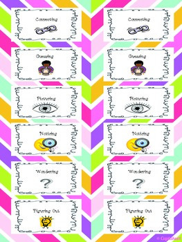 Reading Strategies Bookmarks/Cards