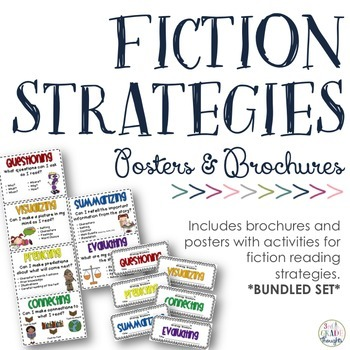 FICTION Reading Strategies Bundle {Posters + Brochures}