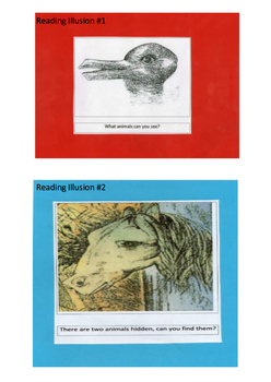 Reading Illusions - Fun for all ages.