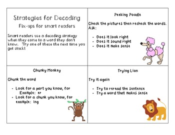 Reading Strategies Key Cards