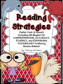 Reading Strategies Poster Pack Featuring Beanie Babies