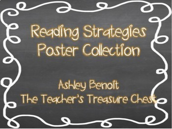 Reading Strategies Poster Set- Chalkboard Edition