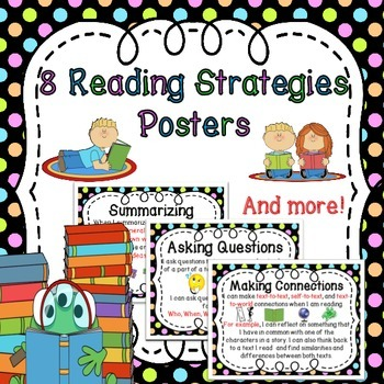 Reading Strategies Posters (Summarizing,Connecting,Predict