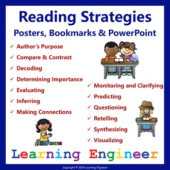 Reading Strategies Posters and Reading Strategies Bookmark