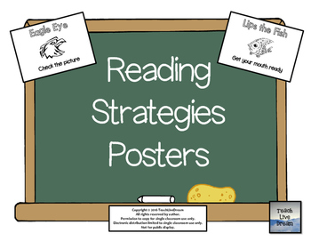 Reading Strategies Posters (FREE!) by TeachLiveDream