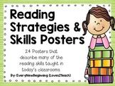 24 Reading Strategies & Skills Posters