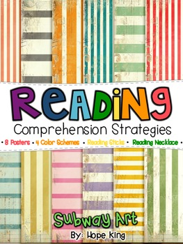 Reading Strategies: Subway Art, Comprehension Sticks & Necklaces