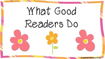 Reading Strategies-What Good Readers Do Posters