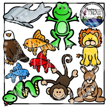 Reading Strategy Animals Clipart Bundle