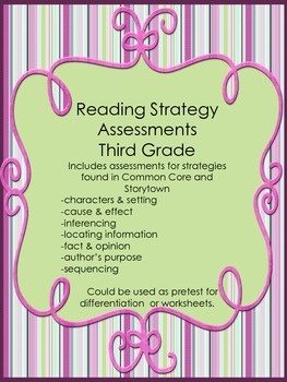 Reading Strategy Assessments