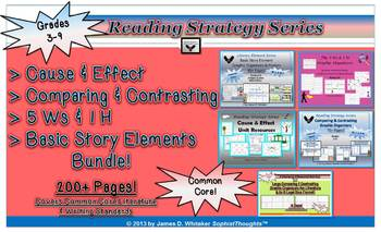 Reading Strategy Bundle Cause Effect Compare Contrast 5 Ws