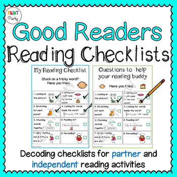 Reading Strategy Decoding Checklists for Students | Readin