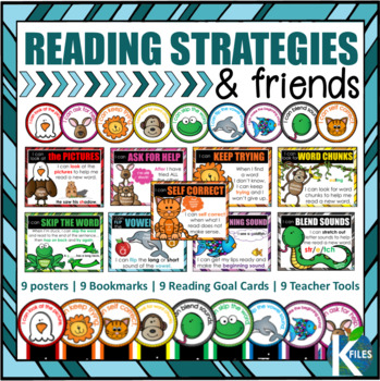 "Reading Strategy Goals with ""I can"" Statements Poster Set"